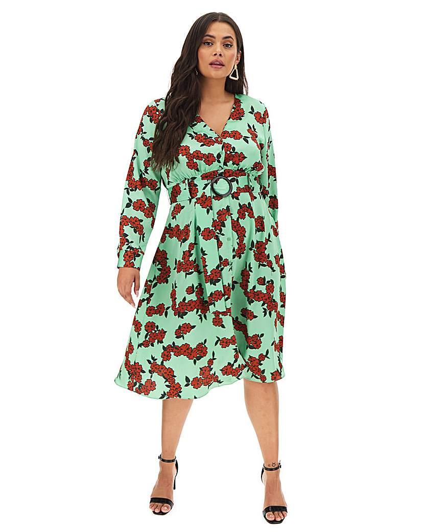 Glamorous Floral Printed Wrap Dress