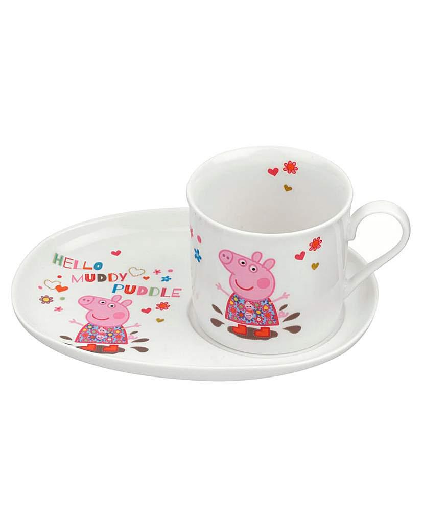 Peppa Pig Mug & Plate