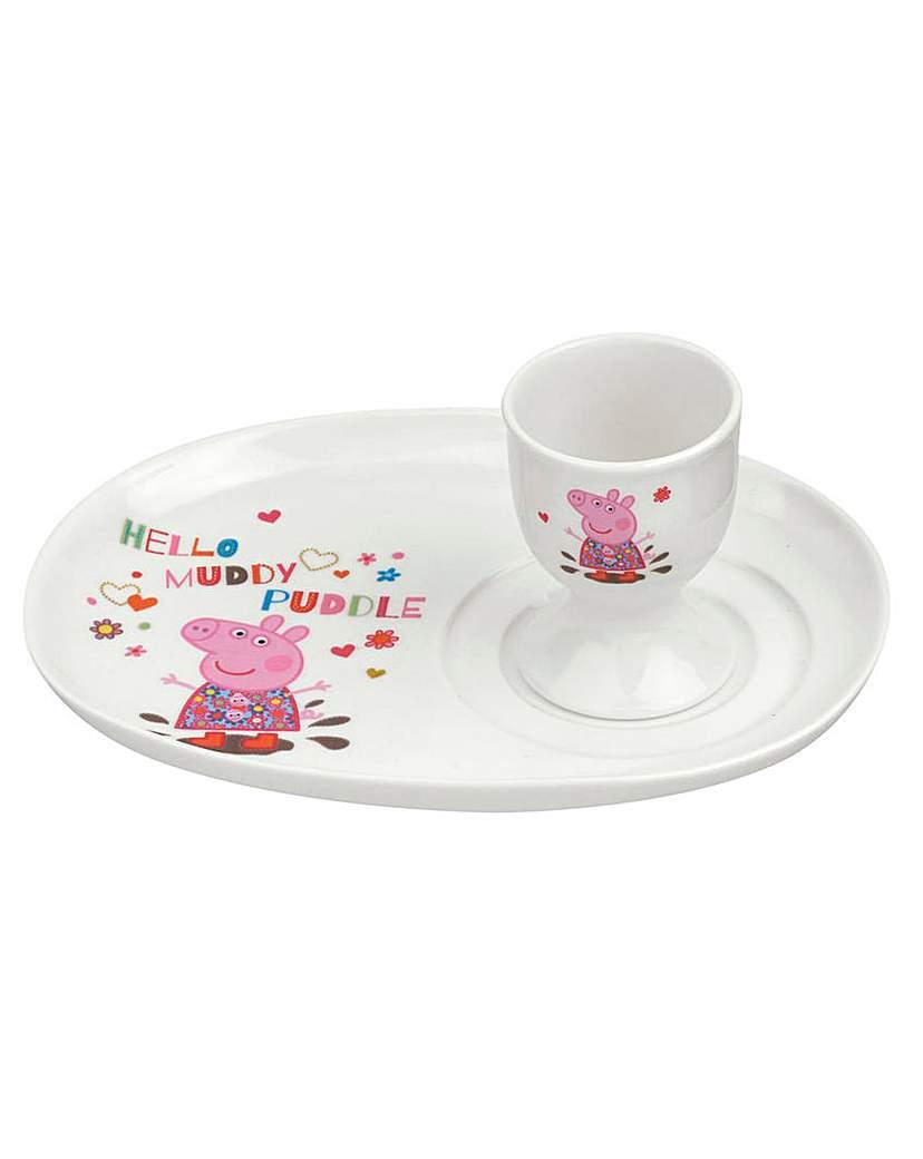 Peppa Pig Egg Cup & Soldier Set