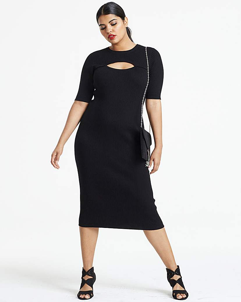 Simply Be Cut Out Detail Knitted Dress