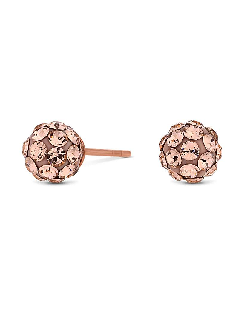 Simply Silver Rose Gold Stud Earring