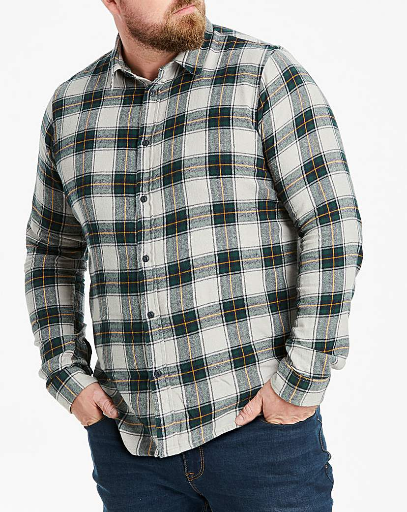 Jacamo Flannel Check L/S Shirt L