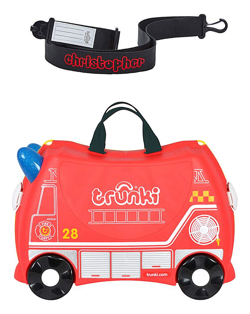 Personalised Trunki Frank the Fire Truck