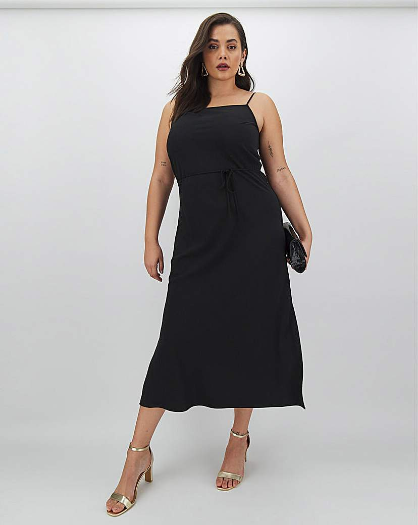 Calvin Klein Calvin Klein Black Cami Midi Dress