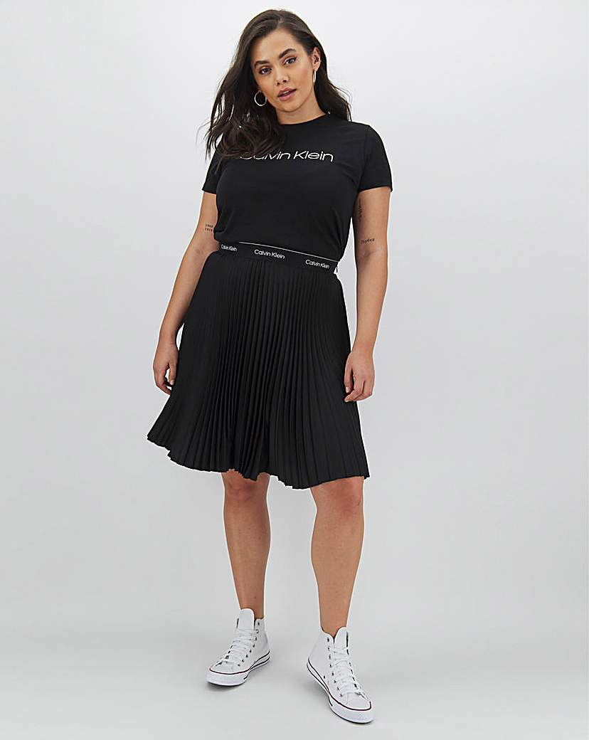 Calvin Klein Calvin Klein Pleated Knee Length Skirt