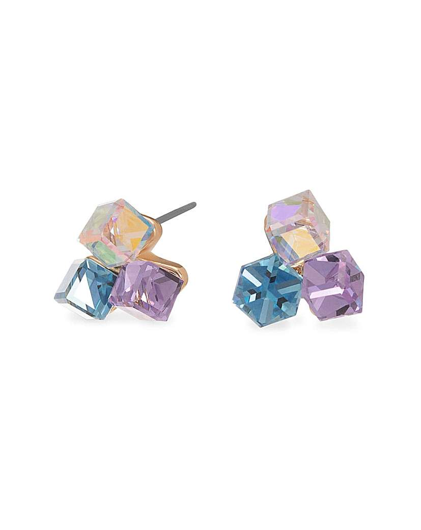 Swarovski Jon Richard Tripple Cube Studs
