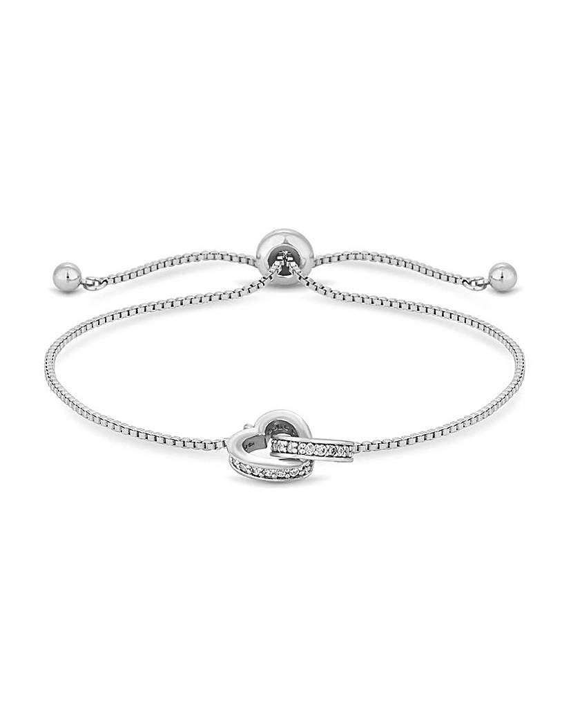 Jon Richard Jon Richard Crystal Heart Bracelet
