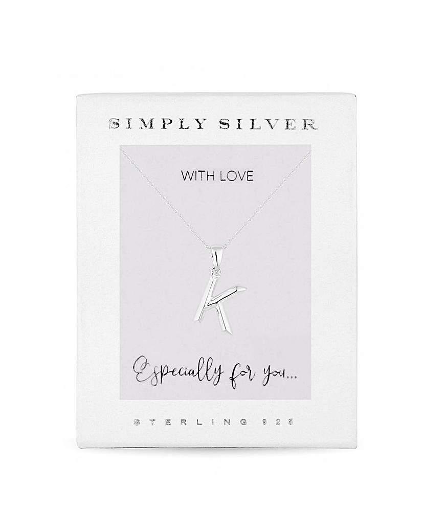 Simply Silver by Jon Richard Simply Silver Alphabet Necklace Letter K