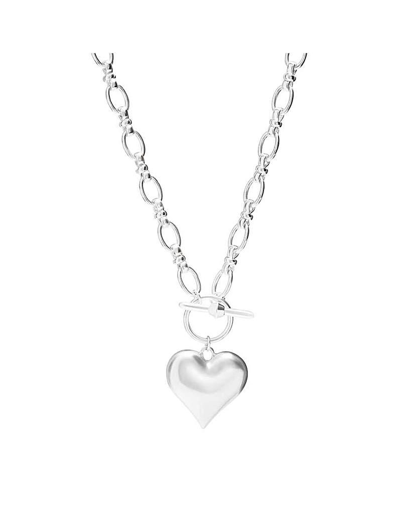 Mood by Jon Richard Mood Silver Heart T Bar Necklace