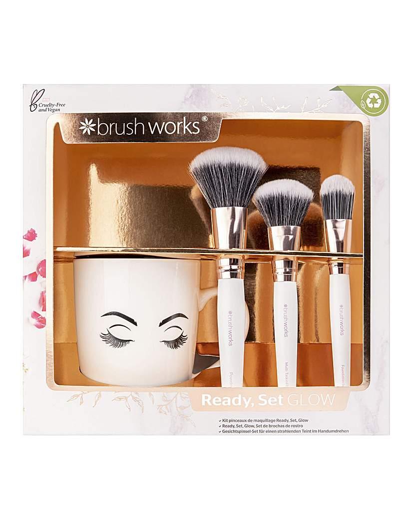Invogue Brushworks Ready Set Glow Face Brush Set