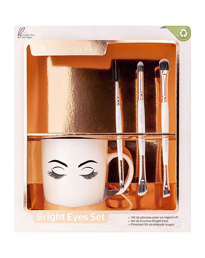Invogue Brushworks Bright Eyes Brush Set