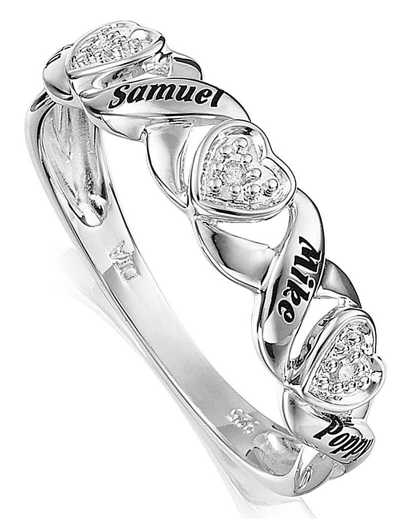 Precious Sentiments Half-Eternity Ring