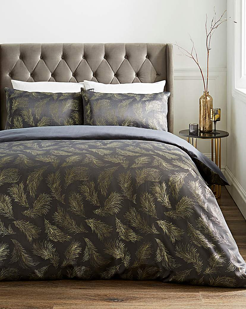 At Home Collection Hope Feather Duvet Set