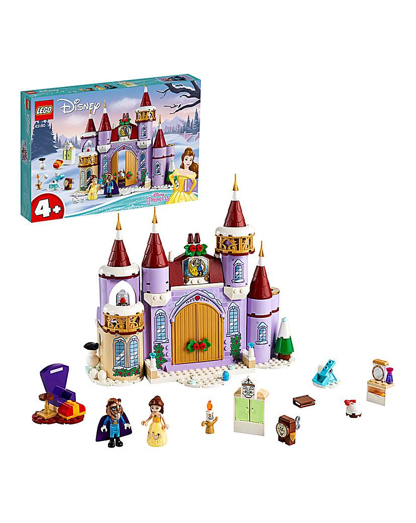 lego belle's castle winter celebration