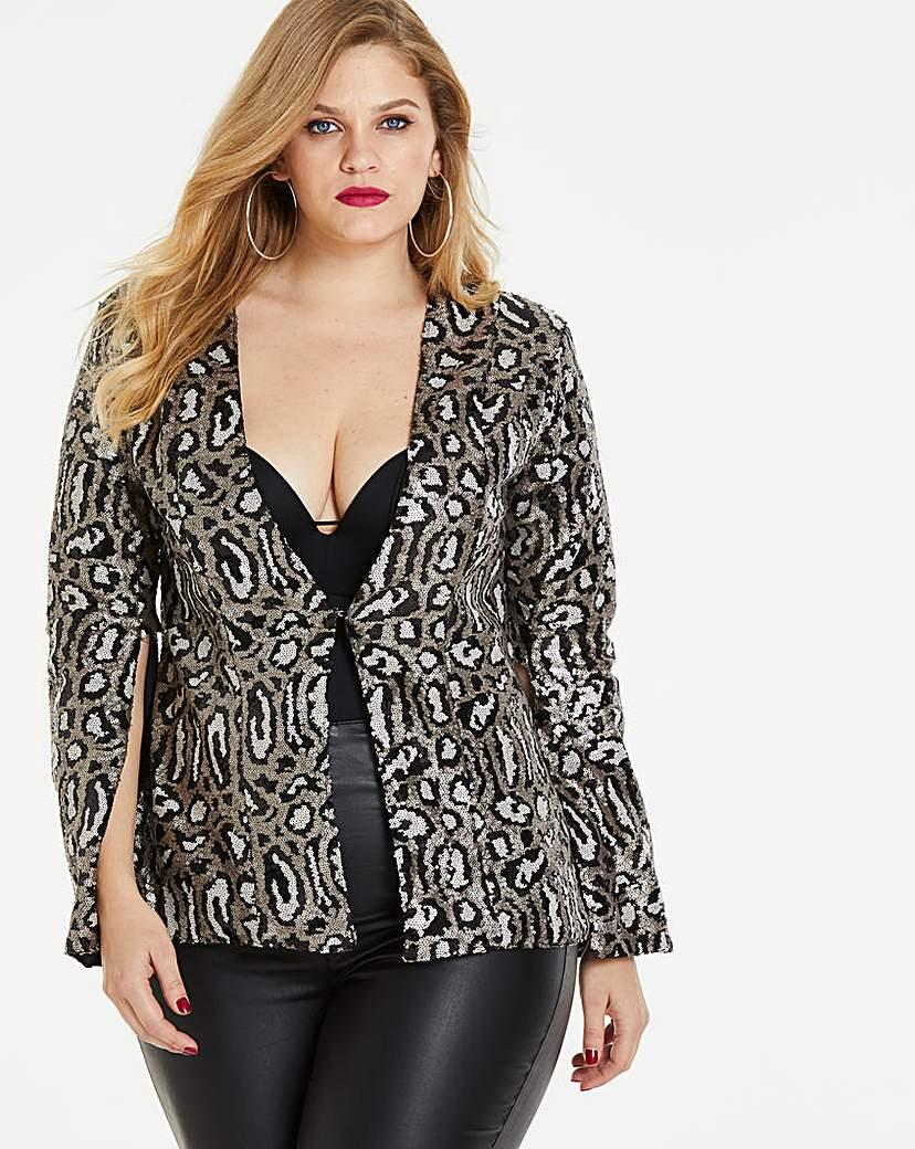 Simply Be Simply Be By Night Split Sleeve Jacket