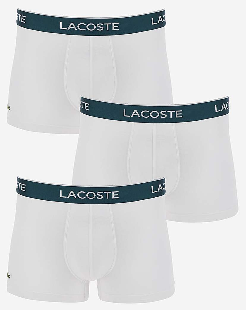 Lacoste 3 Pack Contrast Band Logo Trunk