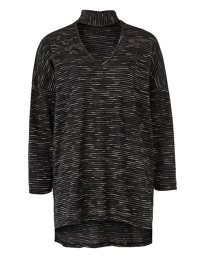 Simply Be 3/4 Sleeve High Neck Jumper