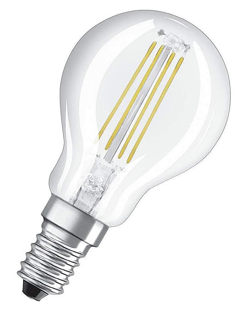Image of 40W Filament LED Globe SES Bulb TwinPack