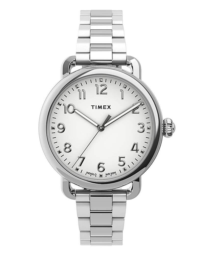 Timex Timex Ladies Silver Tone Bracelet Watch