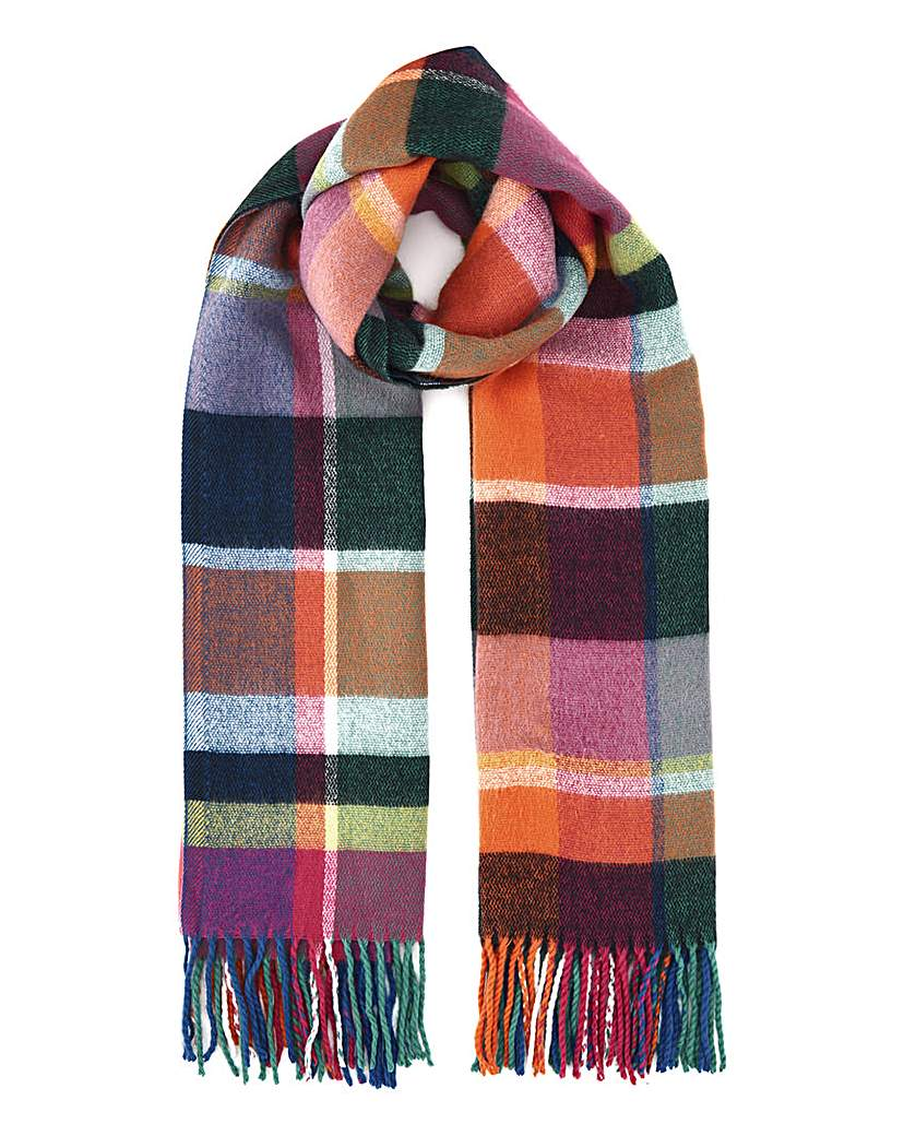 JD Williams Checked Multicolour Blanket Scarf