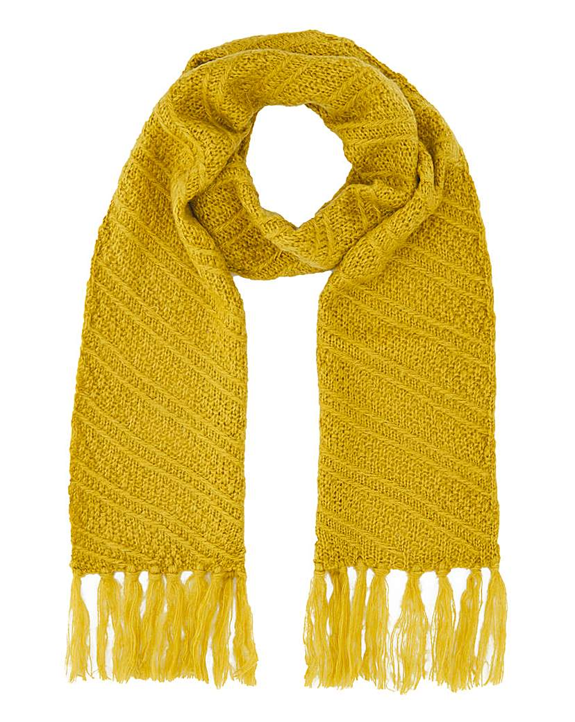 JD Williams Ochre Caroline Knit Scarf