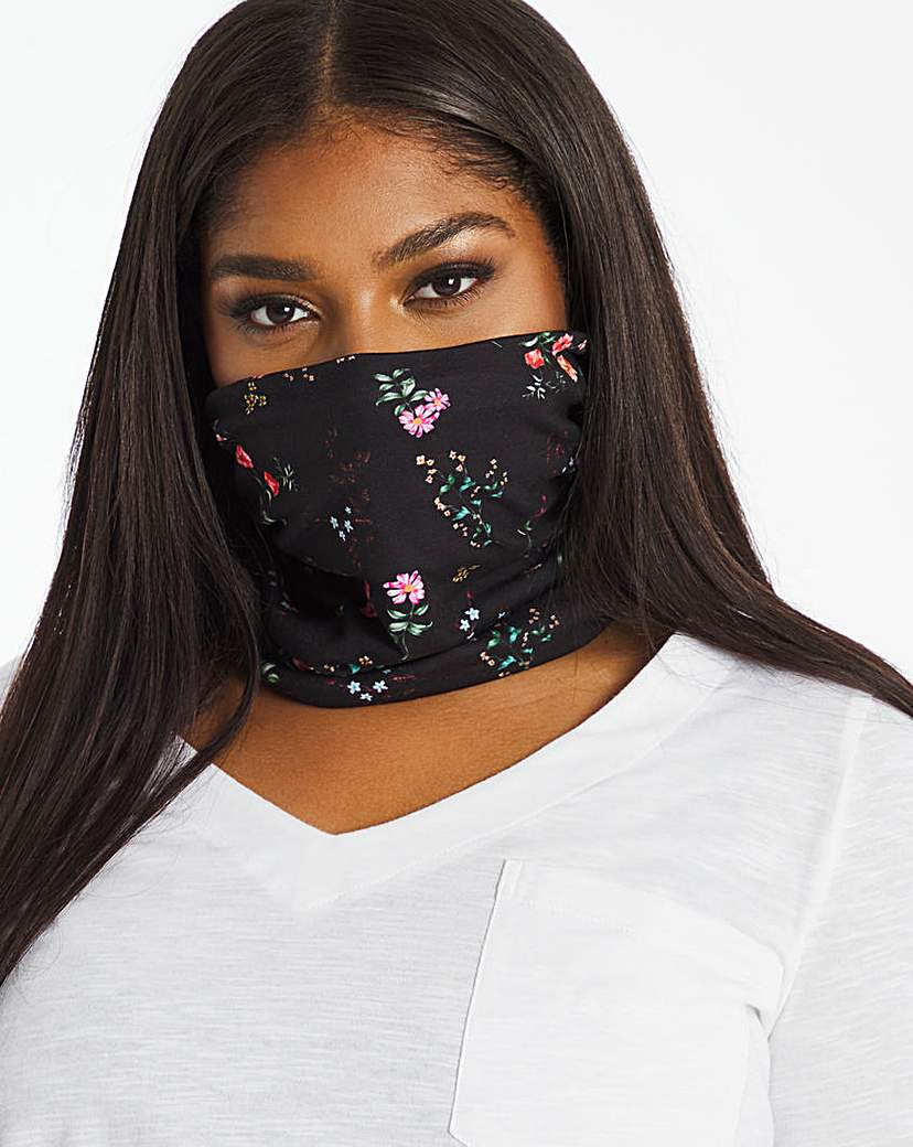 JD Williams Ditsy Print Snood Face Covering