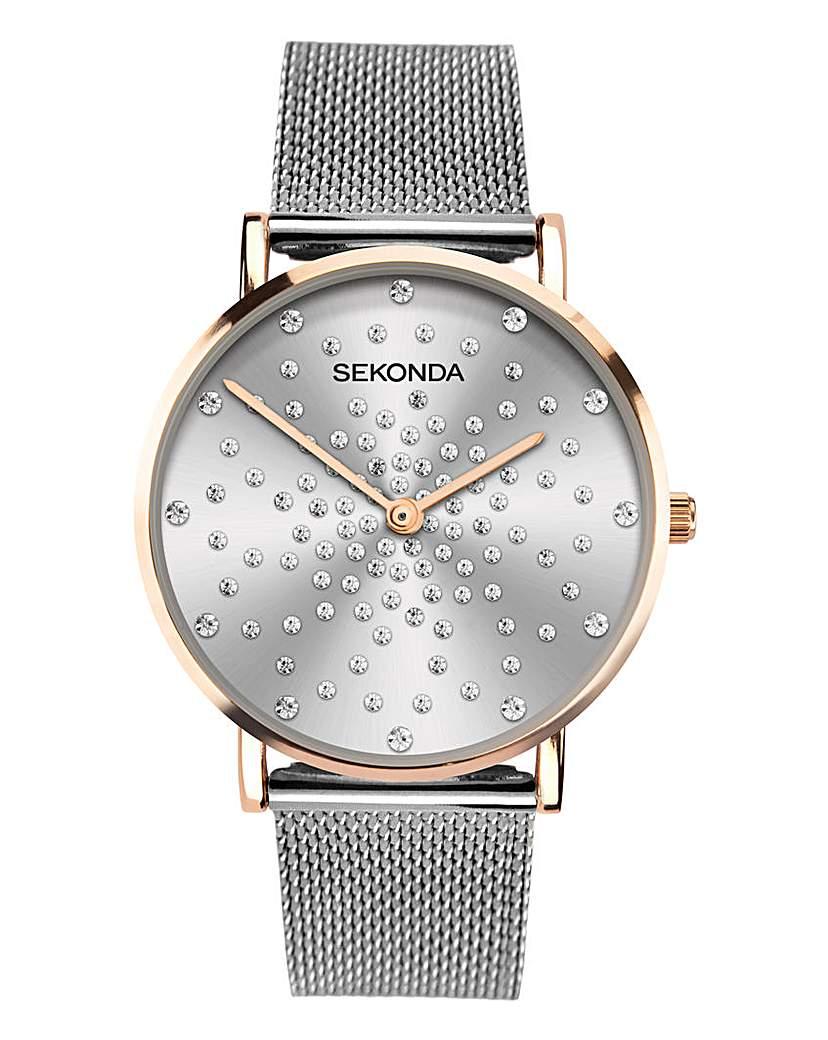 Sekonda Sekonda Stone Set Dial Bracelet Watch
