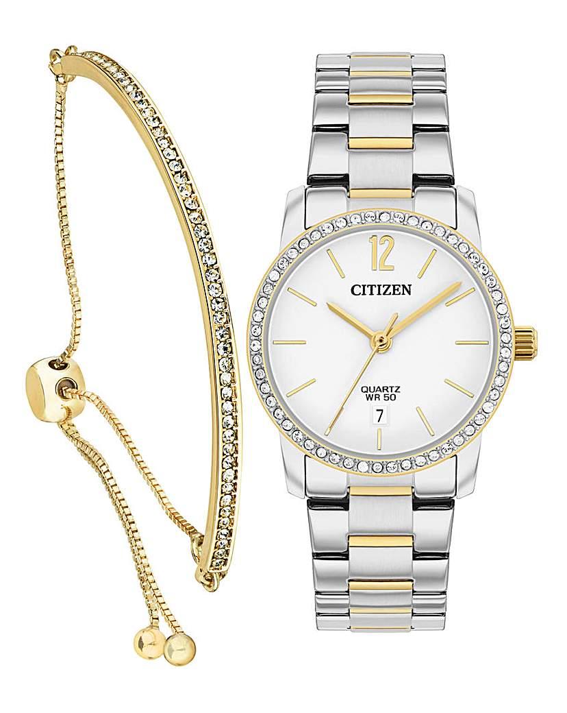 Citizen Citizen Watch and Swarowski Bracelet Set