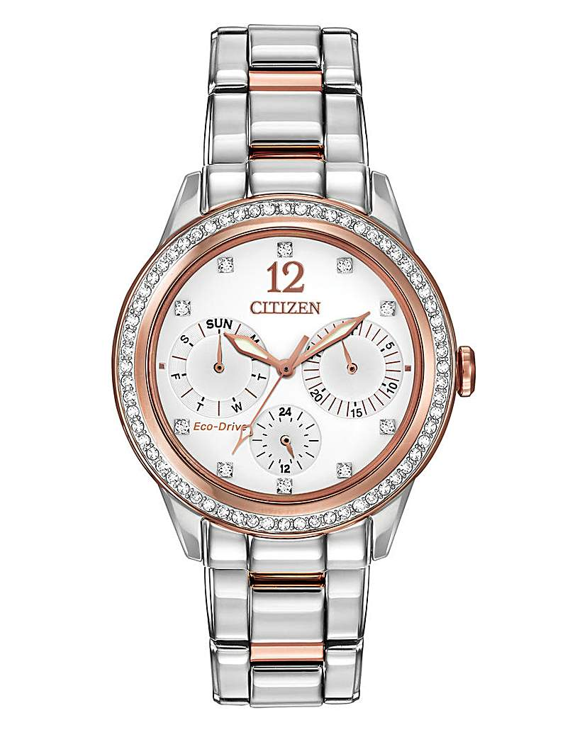 Citizen Citizen Two Tone Swarovski Cystal Watch