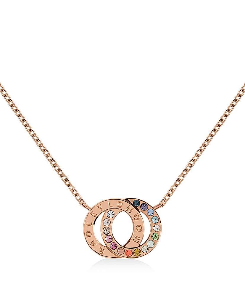 Radley 18ct Rose Gold Hoop Necklace
