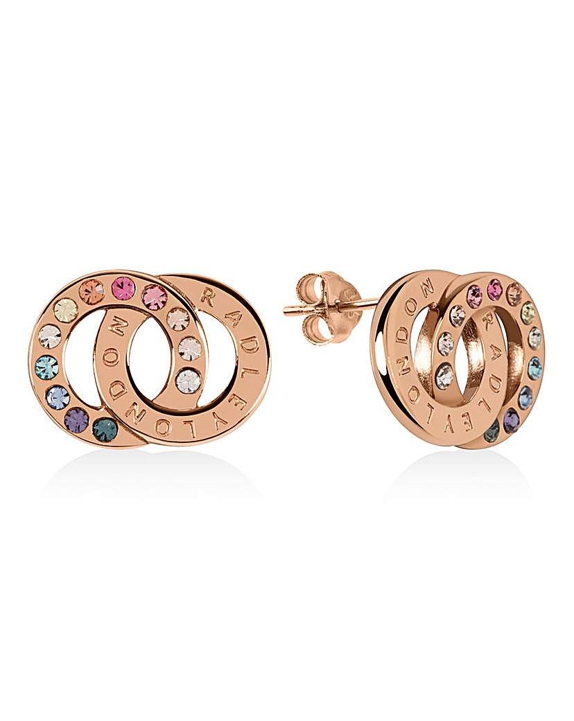 Radley Rose Gold And Silver Earrings