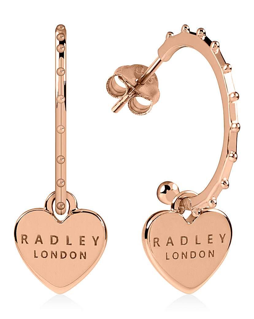 Radley Love Rose Gold Silver Earrings