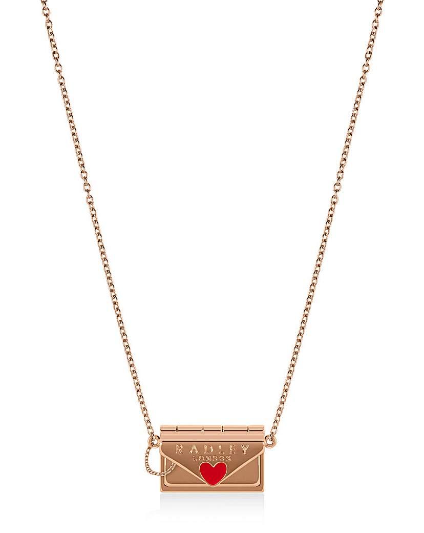 Radley Letters Ladies Rose Gold Necklace