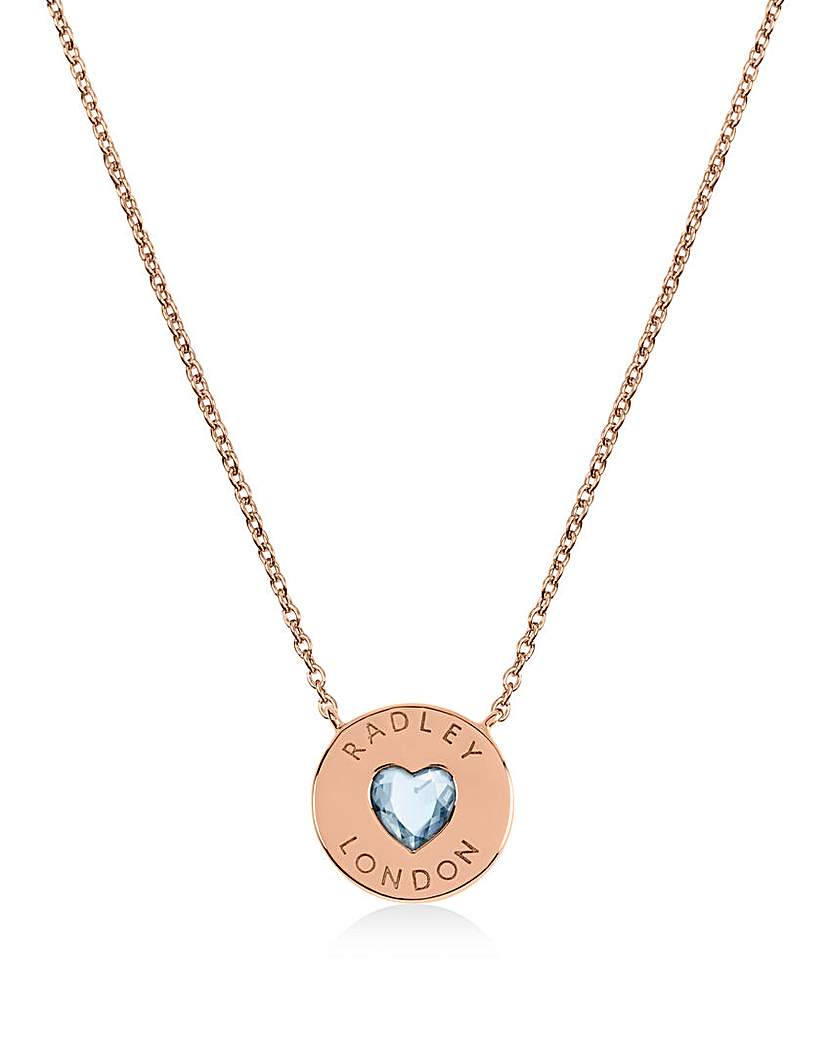 Radley Heart Rose Gold Plated Necklace