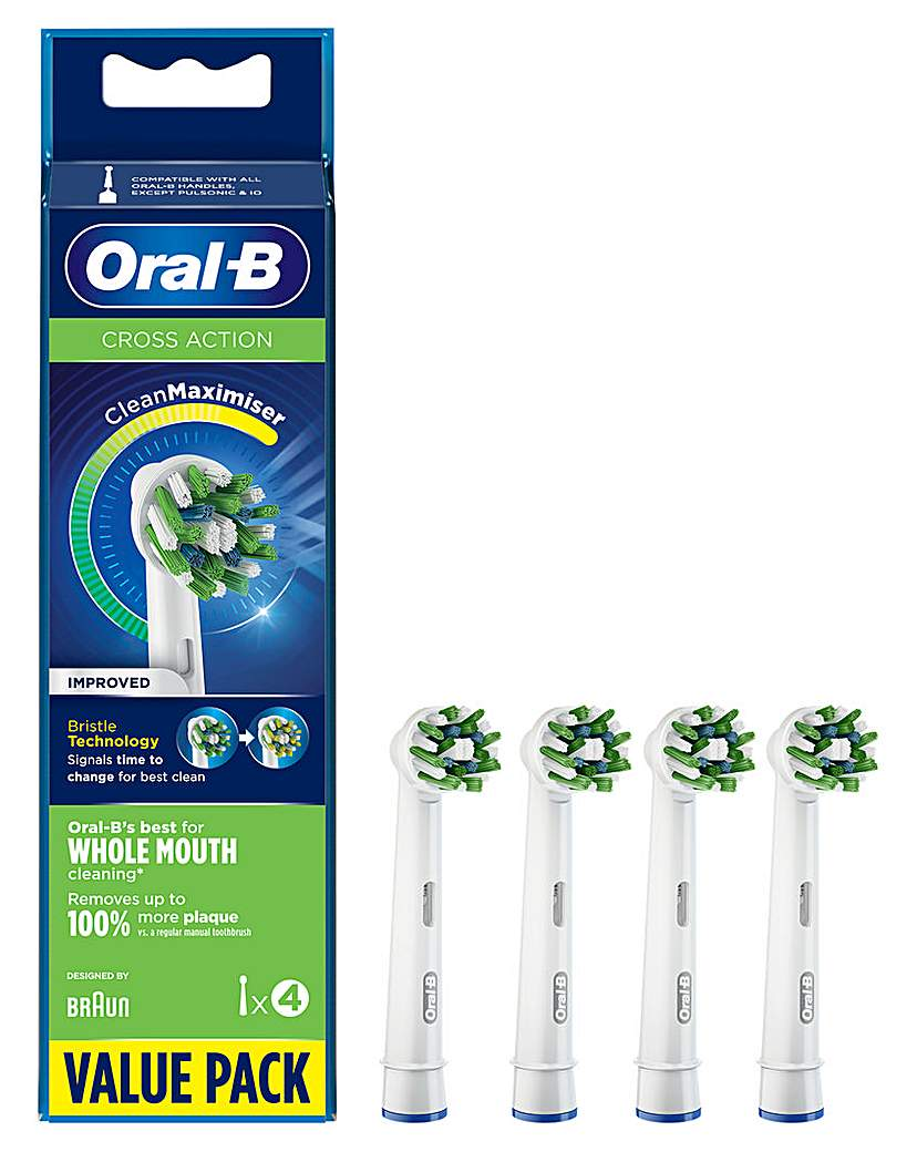 Oral-B Cross Action 4 Pack Brush Heads