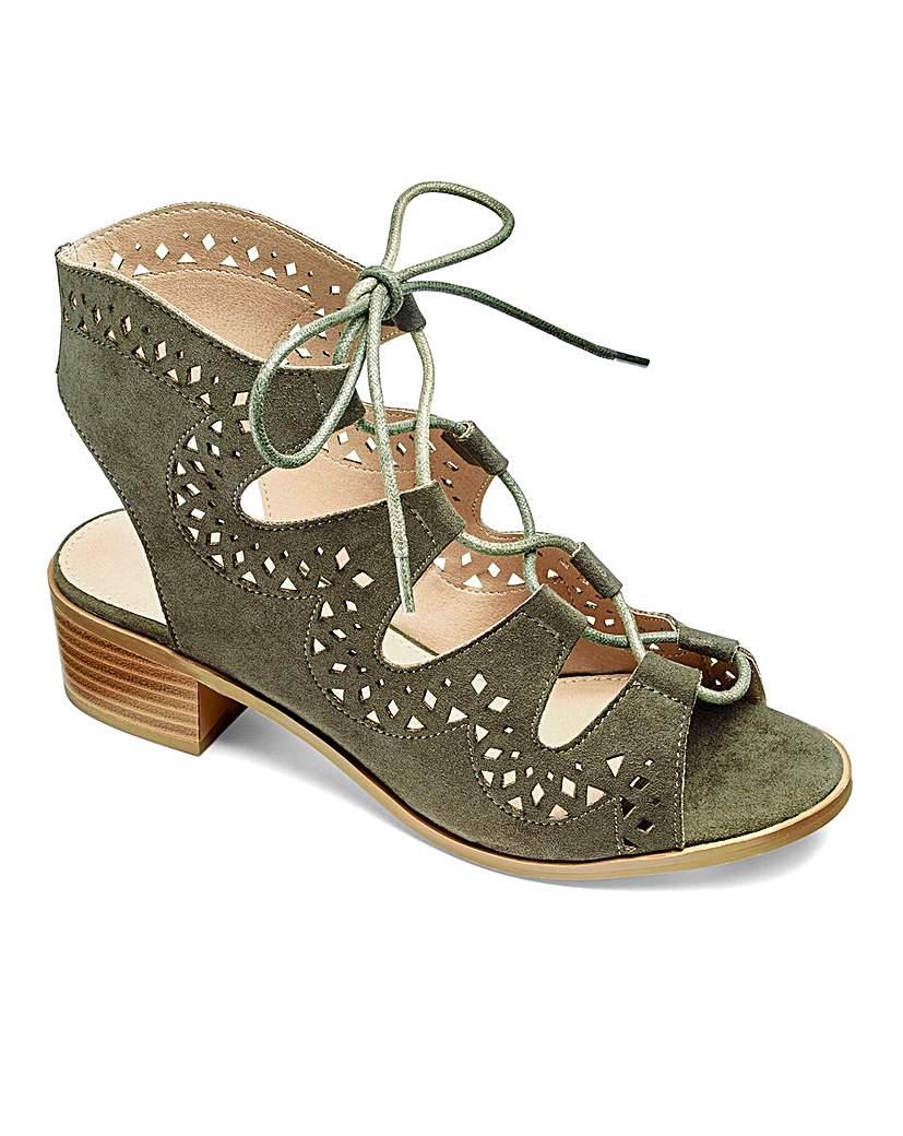Retro Sandal History: Vintage and New Style Shoes Sole Diva Ghillie Tie Sandals E Fit £24.00 AT vintagedancer.com