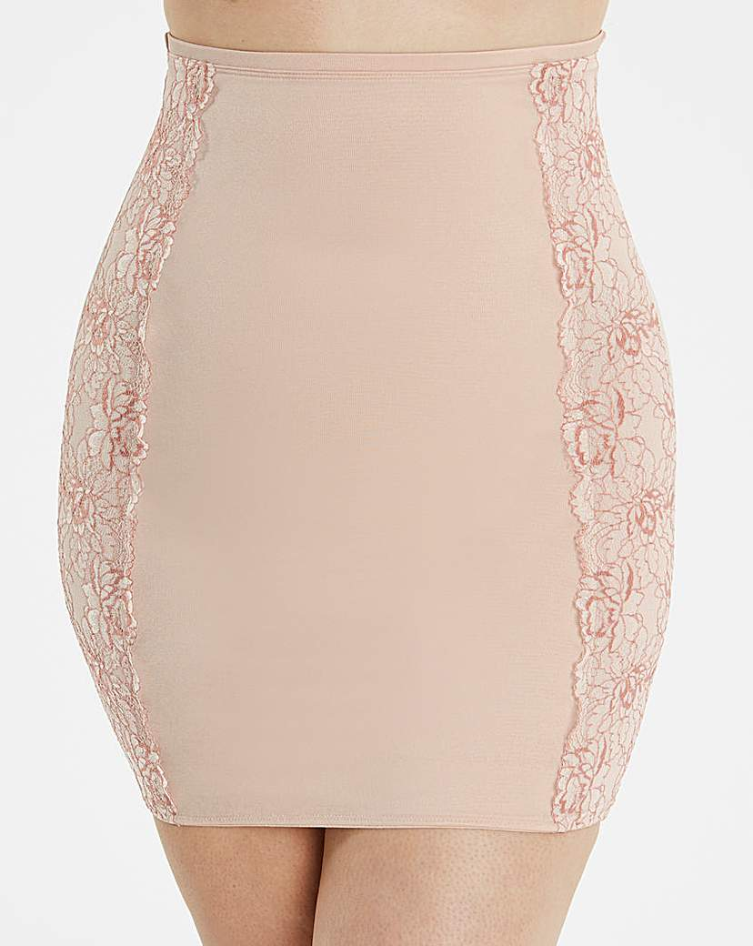 Ella Lace Blush Half Slip Firm Control