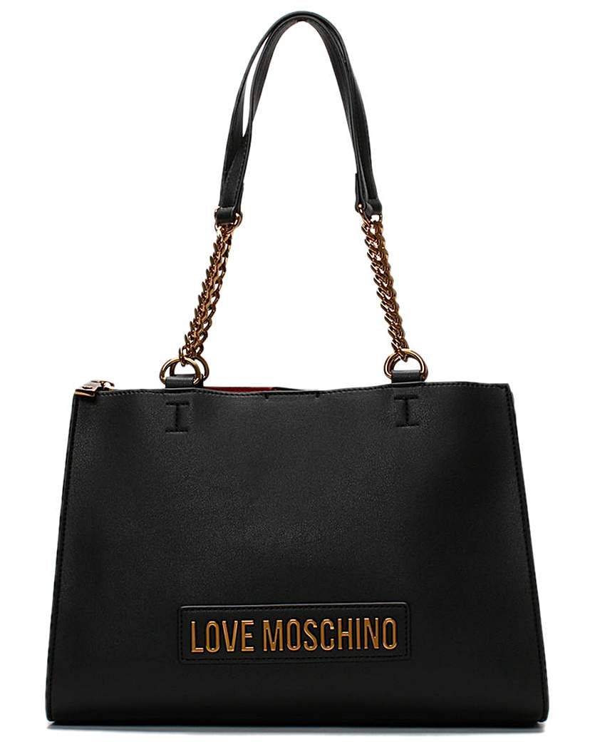 Love Moschino Love Moschino Small Logo Chain Shopper