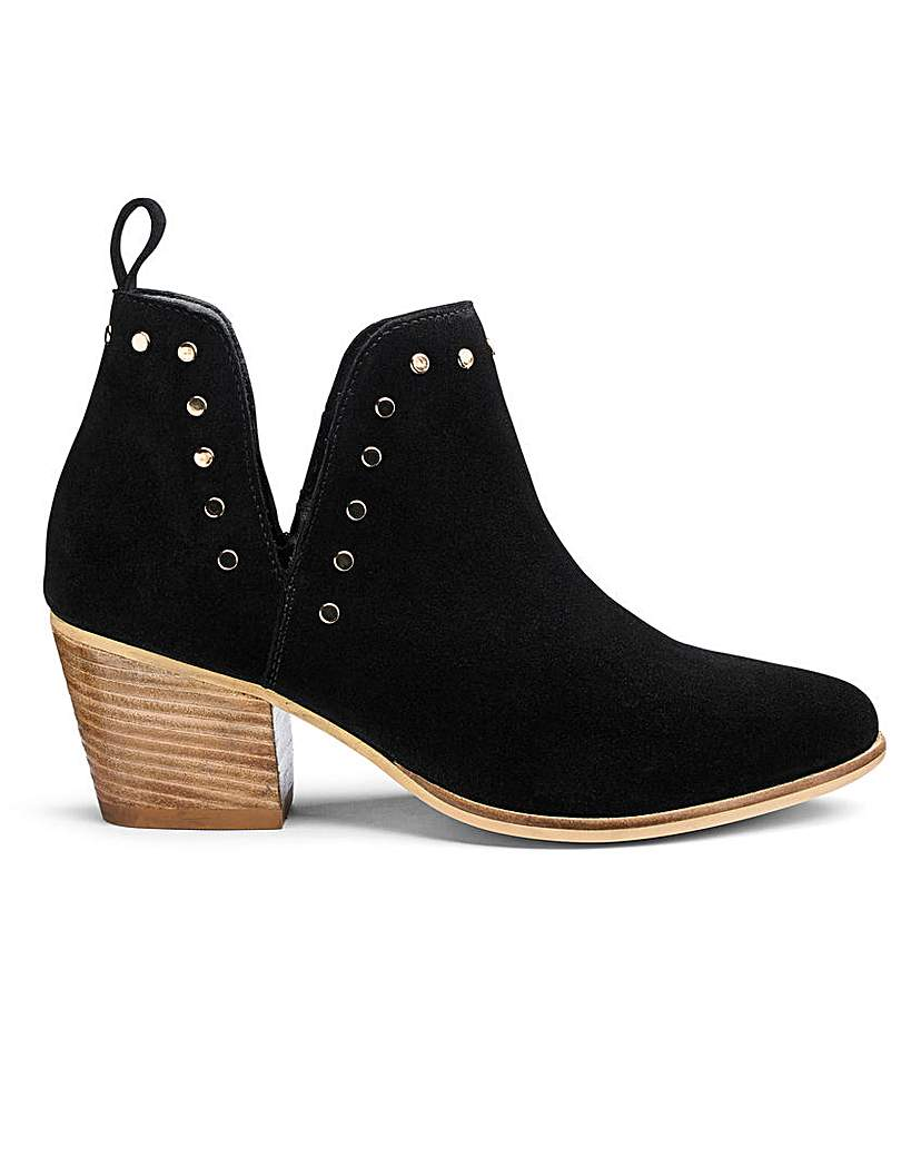 Simply Be Bree Suede Boots Extra Wide Fit