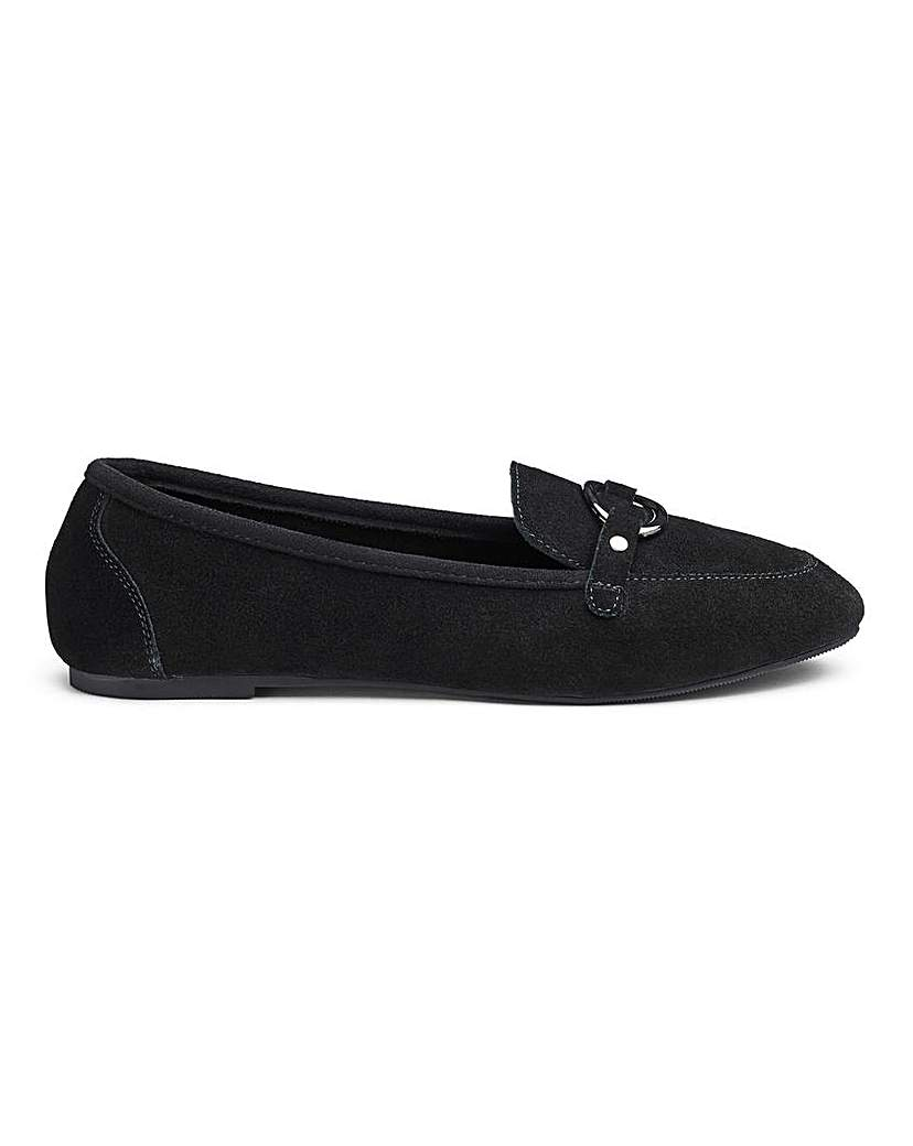 Simply Be Cassandra Suede Loafer Wide Fit
