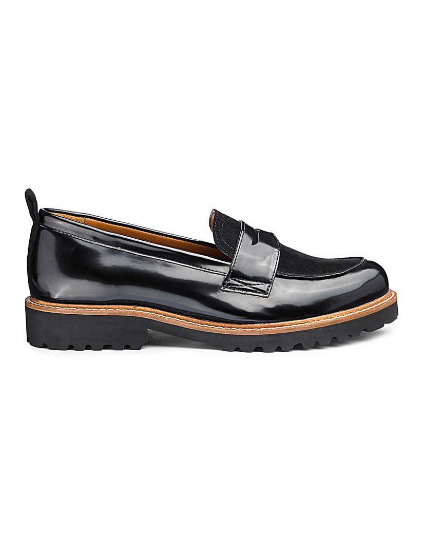 Simply Be Keisha Chunky Loafer Wide Fit