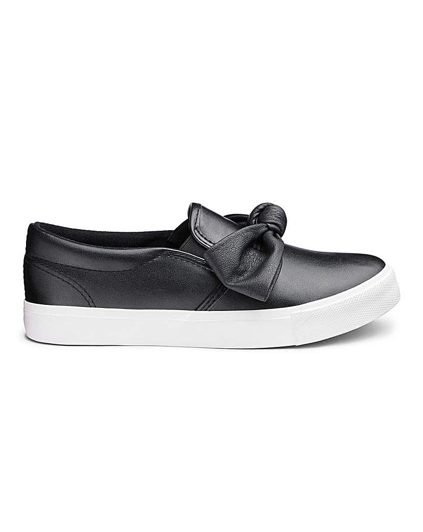 Roxanne Slip On Bow Pump Extra Wide Fit