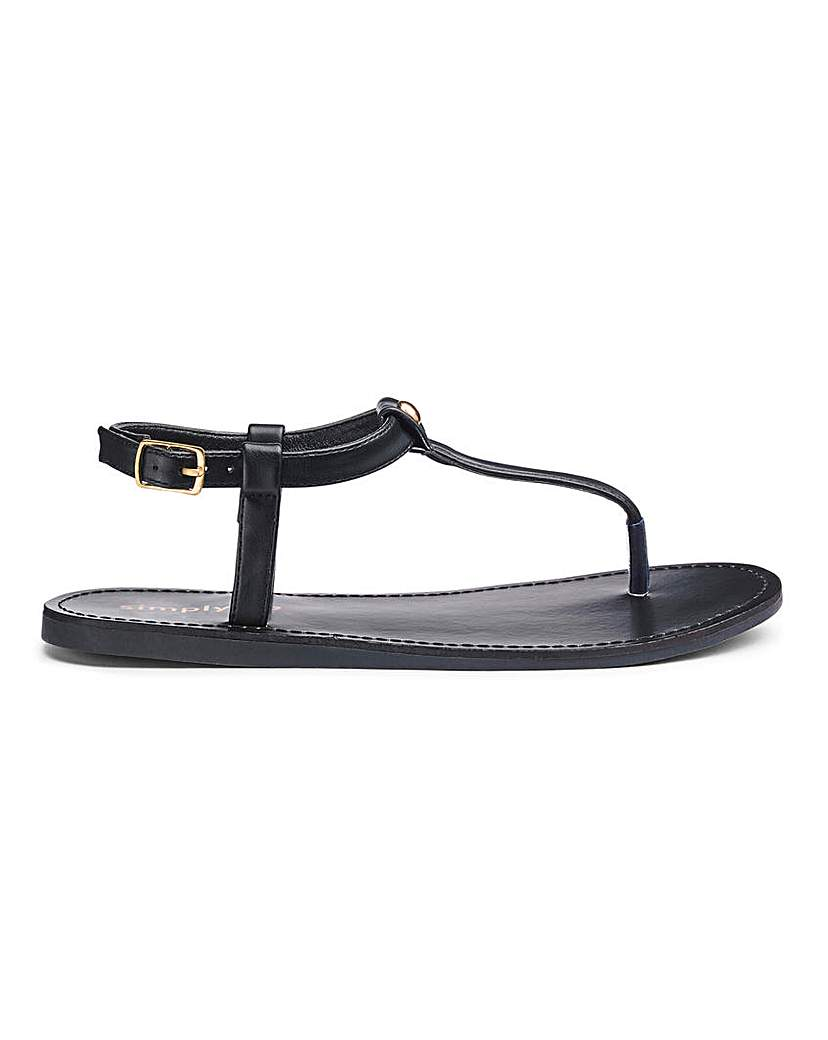 Simply Be Valerie Toepost Sandals Extra Wide Fit