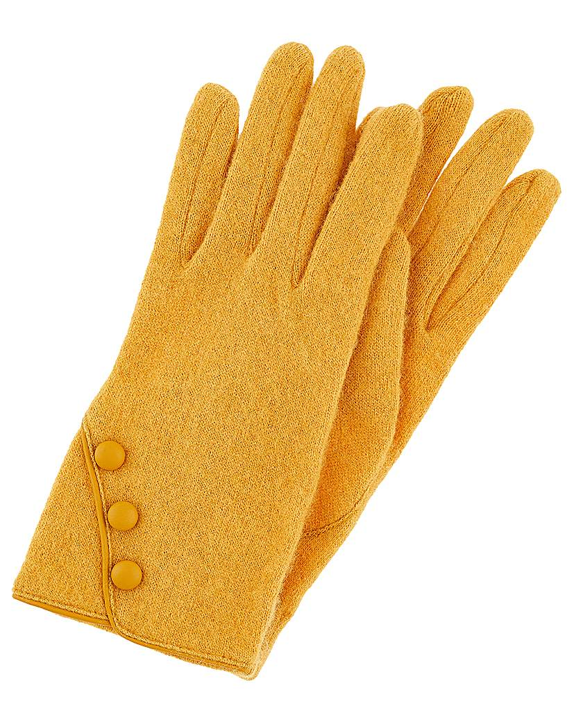 Accessorize Accessorize WOOL GLOVE WITH BUTTONS