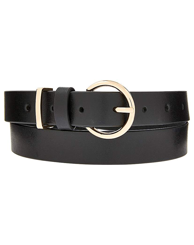 Accessorize Accessorize Round Buckle Leather Belt