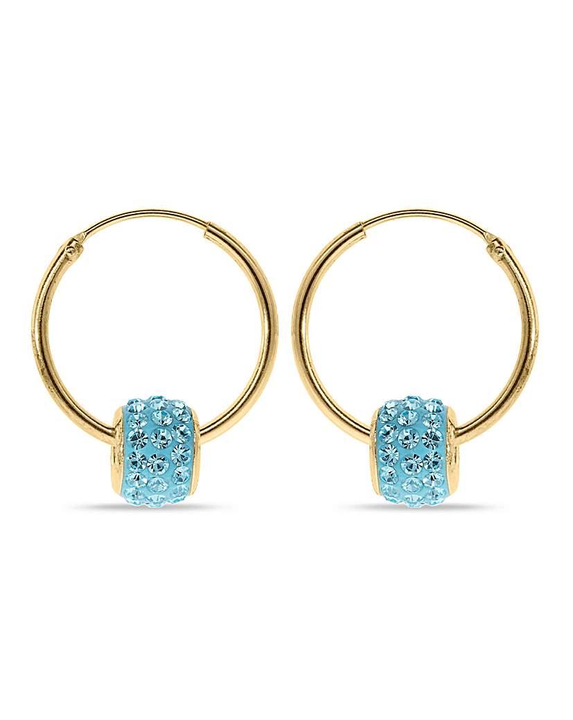Crystal Glitz Crystal Glitz Blue Crystal Hoops