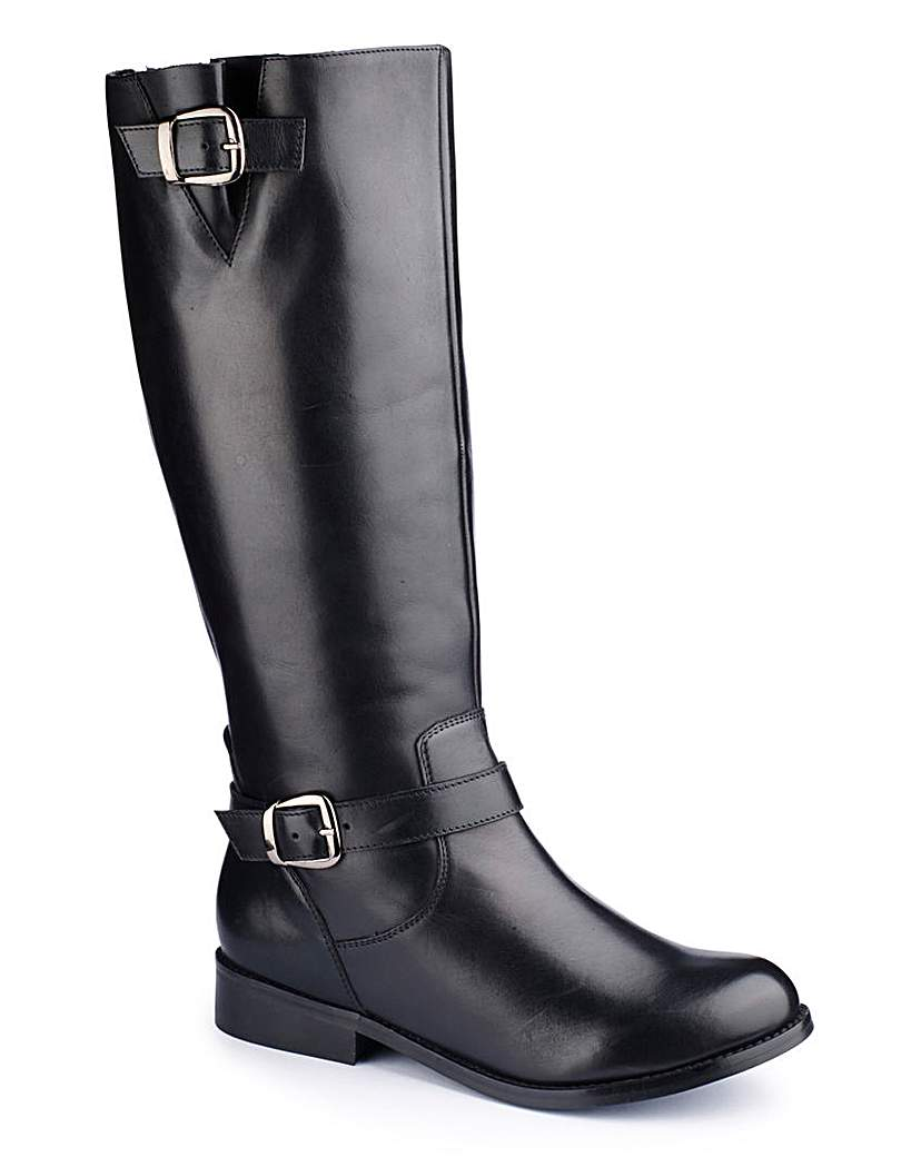 Simply Be Sole Diva Buckle Boot Curvy Plus EEE Fit