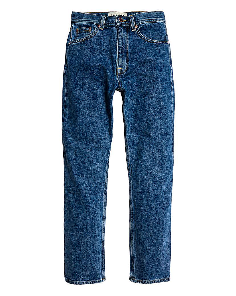 Superdry Superdry High Rise Straight Leg Jean