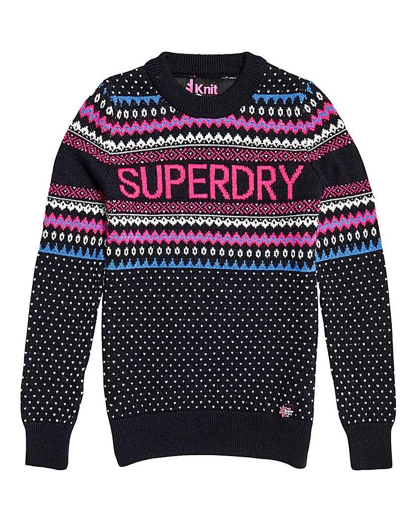 Superdry Superdry Oslo Fairisle Jumper