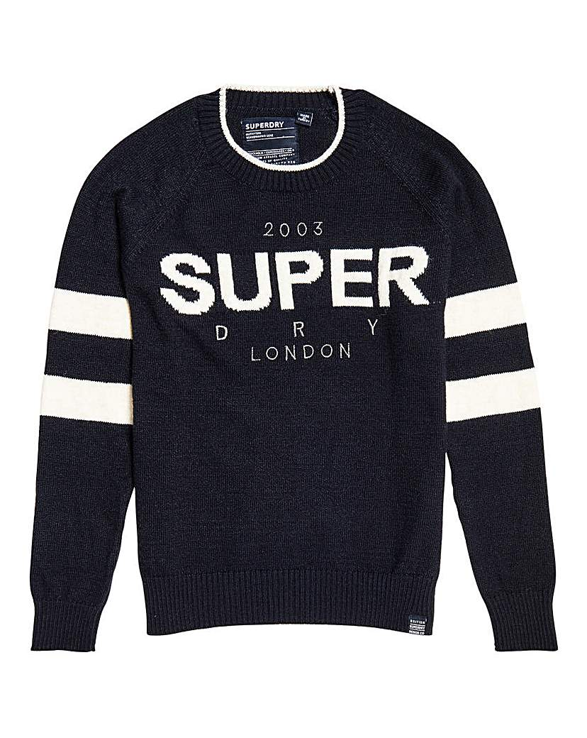 Superdry Superdry 90's Logo Intarsia Knit